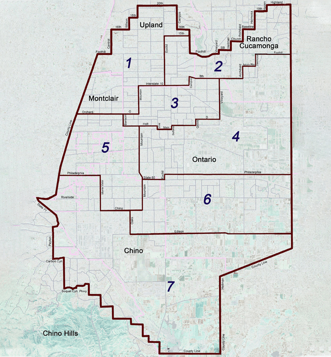 Chino Basin Water Conservation District Map