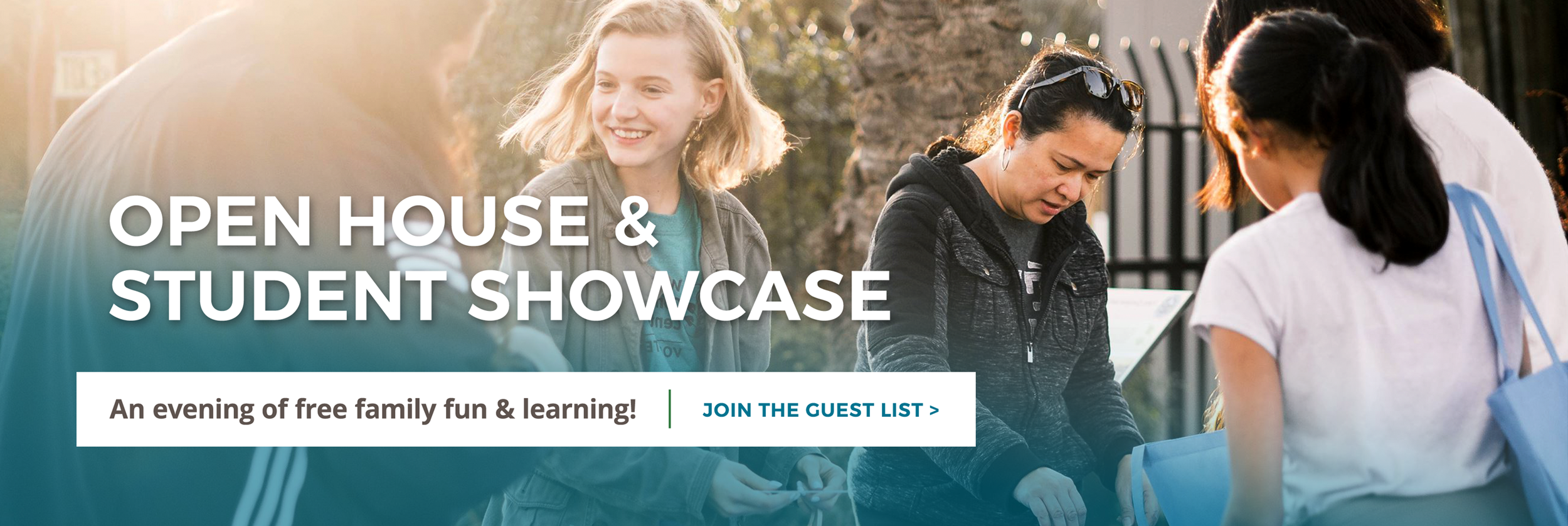 Open House & Student Showcase. Click here to join the guest list.