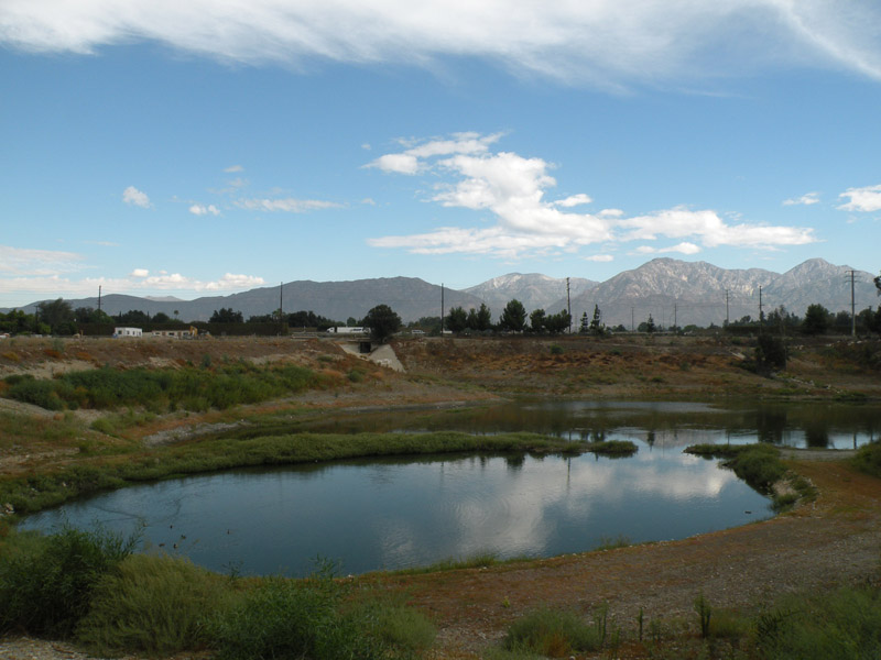 Basin and mountains